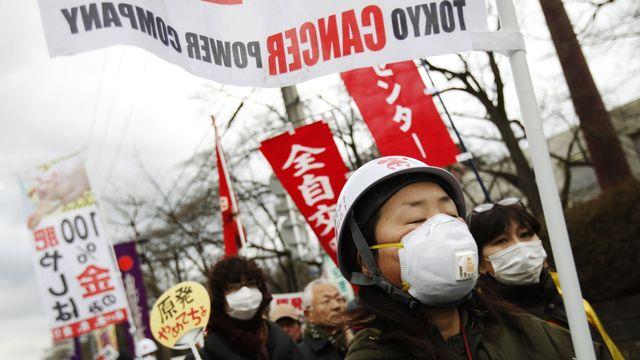 Tokyo: une manifestation dans le recueillement. [Yuriko Nakao - Reuters]