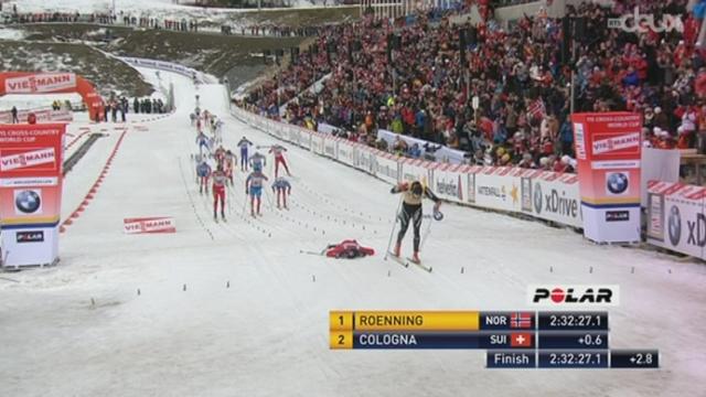 Ski nordique / : Dario Cologna s'est fait battre par le Norvégien Eldar Roenning