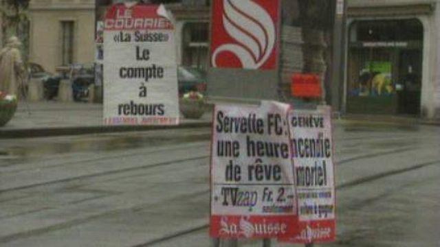 La fin du journal La Suisse. [RTS]