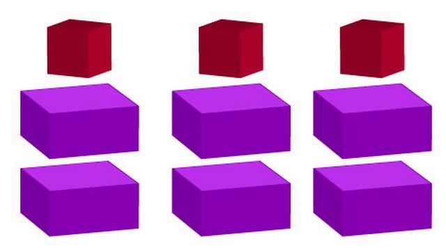 Neuf pièces pour former un seul cube.