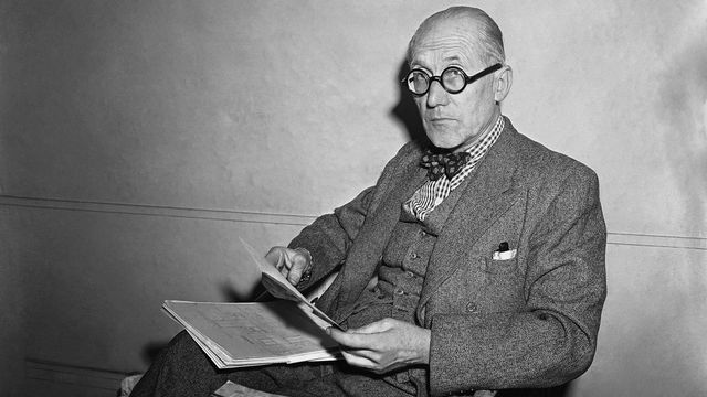 L'architecte suisse Le Corbusier en 1949. [AP Photo /Keystone]