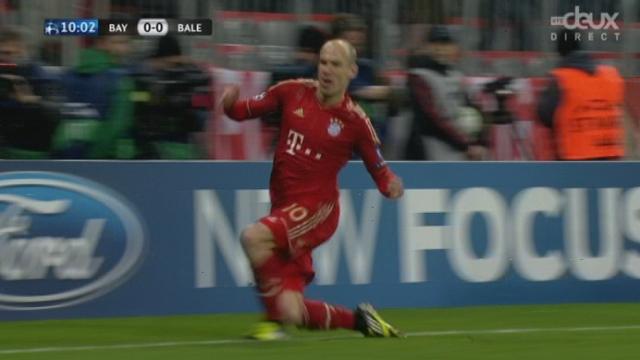 (1/8 de finale, retour): le Bayern ouvre le score par robben (10e/1-0)