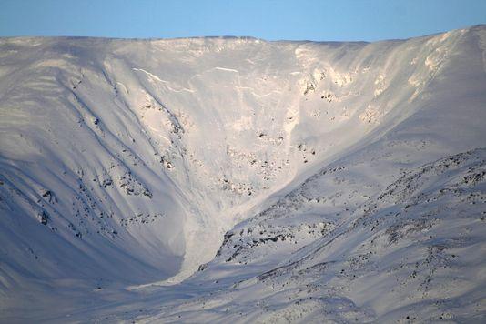 Le lieu de l'avalanche, dans le nord de la Norvège. [MARTIN LYNGDAL - Keystone]
