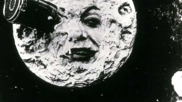 "George Méliès ""Le Voyage dans la lune"". [Photo12.com - Collection Cinema]"