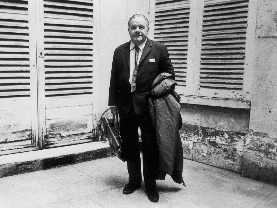 Lawrence Durrell à la fin des années 1970 à Paris. [Jean-Pierre Couderc - ROGER-VIOLLET/AFP]