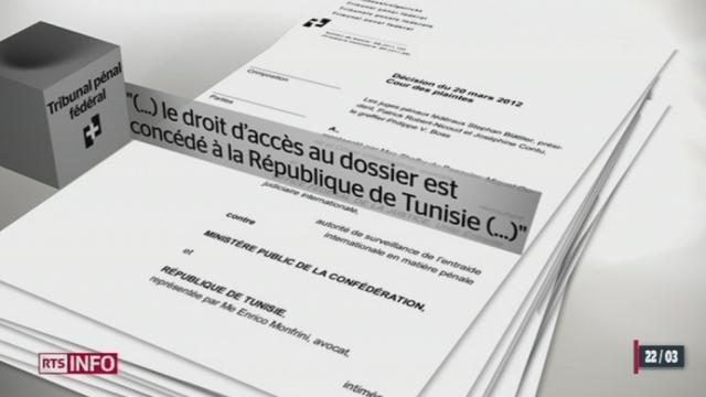 Les nouvelles autorités tunisiennes auront accès au dossier pénal du Ministère public de la Confédération contre le beau frère de l'ancien président Ben Ali