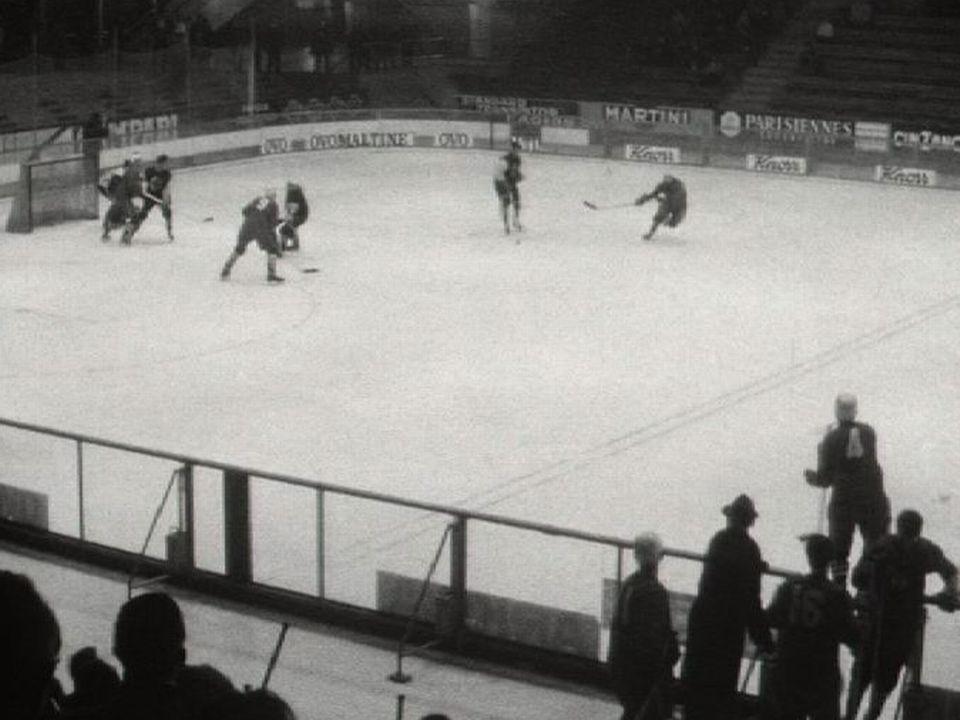 Match Fribourg Gottéron Genève Servette en 1962. [TSR 1962]
