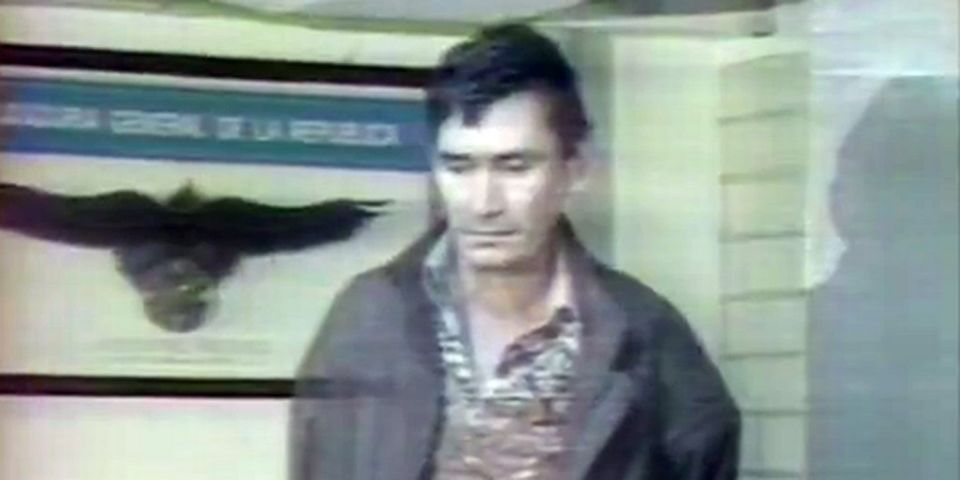 Arrestation de Miguel Angel Félix Gallardo en avril 1989. [INA]