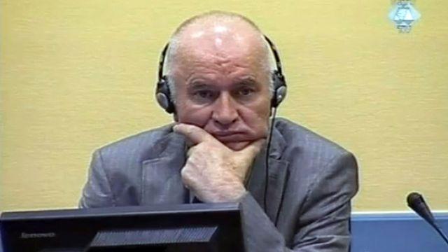 Ratko Mladic devant la cour du TPIY à La Haye, juin 2011. [ICTY - AFP]