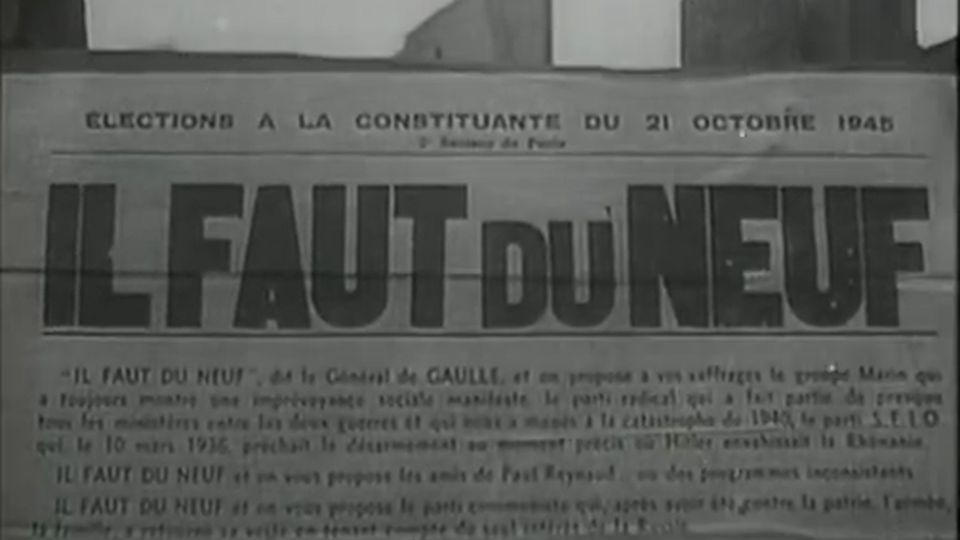 La voix du peuple: avant les élections du 21 octobre - Les Actualités Françaises - 19/10/1945. [INA]