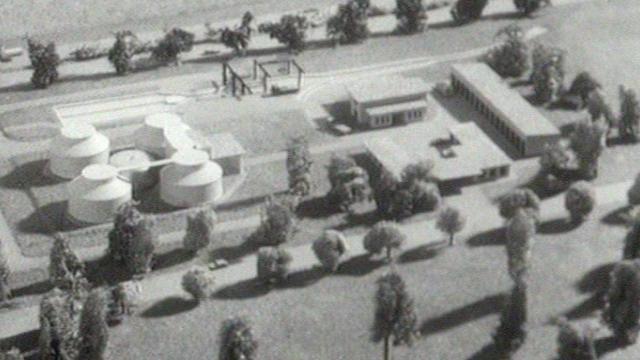 Maquette de la station d'épuration de Vidy [TSR 1962]