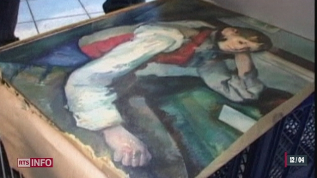 """Un tableau du peintre Paul Cézanne, le """"Garçon au gilet rouge"""", a été retrouvé en Serbie"""