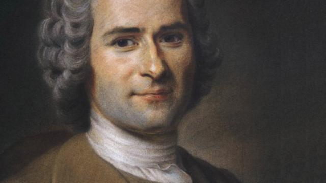 Portrait de Jean-Jacques Rousseau par Quentin de La Tour (extrait). [Wikipédia]