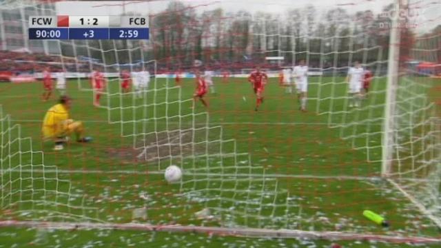 Winterthour-Bâle (1-2): Pénalty pour les Zurichois à la 90e minute. L'arbitrage aura vraiment laissé à désirer dans cette rencontre...