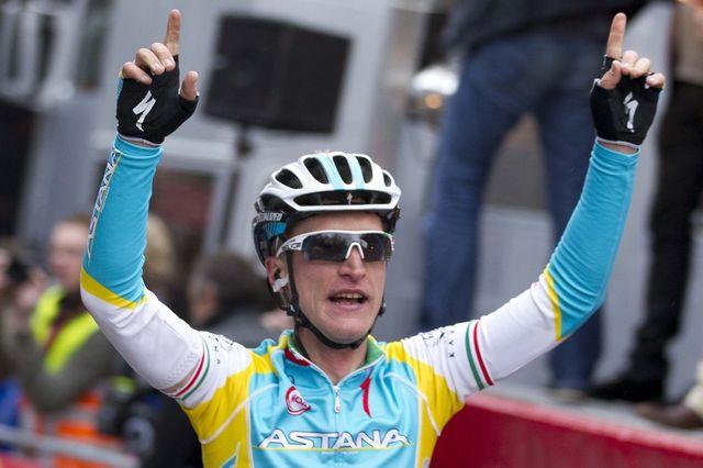 Gasparotto a remporté le plus beau succès de sa carrière dimanche. [Peter Dejong - Keystone]