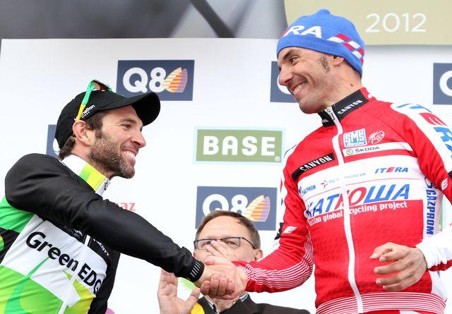 Michael Albasini (à gauche) est le coureur suisse en forme actuellement. [Yves Logghe - Keystone]