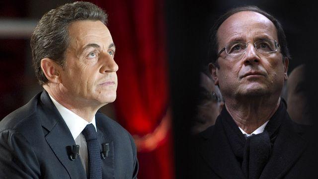 Nicolas Sarkozy et François Hollande s'affronteraient au deuxième tour de la présidentielle. [Keystone]