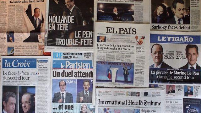 La presse européenne (non française) voit déjà François Hollande marcher vers l'Elysée . [Thomas Coex / AFP]