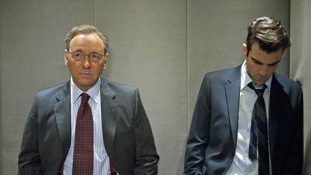 "Kevin Spacey et Zachary Quinto dans ""Margin Call"". [The Picture Desk - AFP]"