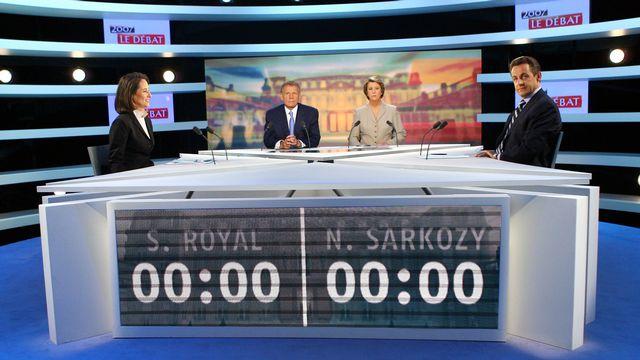 En 2007, Nicolas Sarkozy avait été déclaré vainqueur du débat contre Ségolène Royal par les commentateurs. [Thomas Coex - AFP]