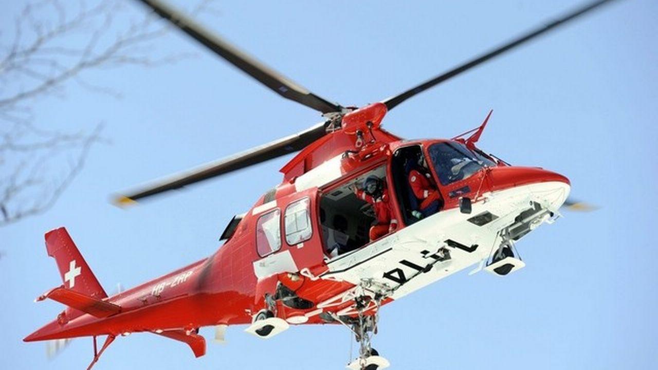 Un hélicoptère de la Rega.  [Karl Mathis/Keystone]