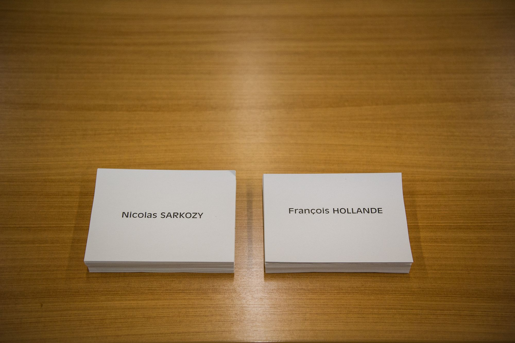 Bulletin de vote Sarkozy et Hollande.