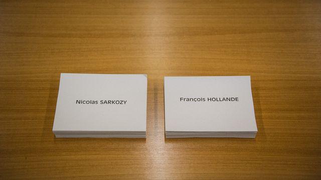 Bulletin de vote Sarkozy et Hollande. [AFP]