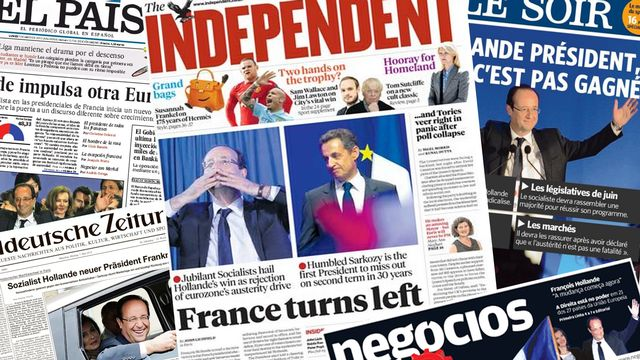 Les journaux européens ont fait leur une sur l'élection française. [RTS]