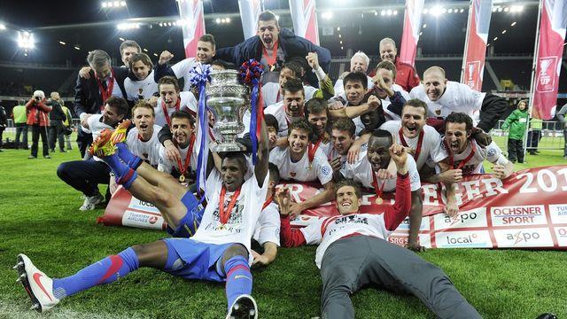 Le FC Bâle a remporté la finale de Coupe de Suisse le 16 mai 2012.  [Jean-Christophe Bott  - Keystone]