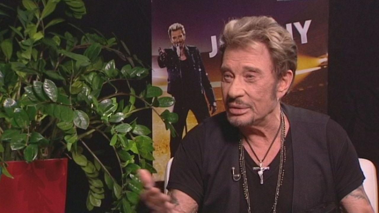 Johnny Hallyday se confie avant son concert à Genève