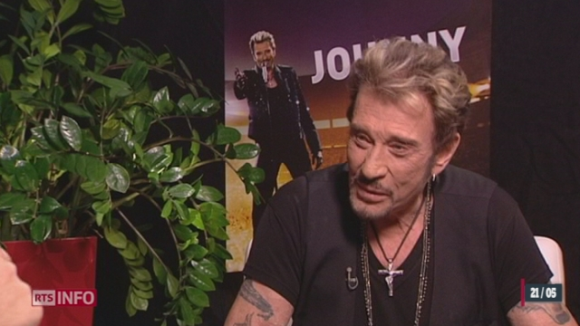 Entretien exclusif accordé par Johnny Hallyday à la RTS