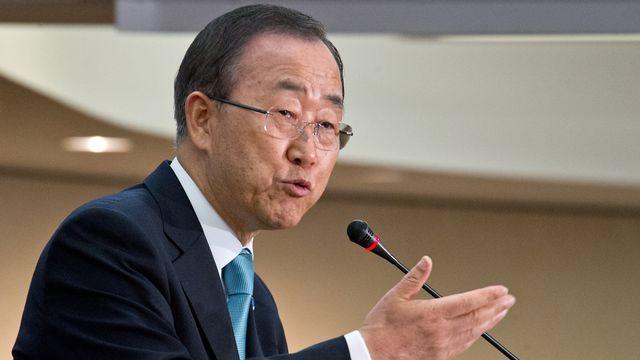 Ban Ki-moon craint une guerre civile généralisée en Syrie et s'inquiète de la flambée de violence au Liban. [Karen BLEIER - AFP]