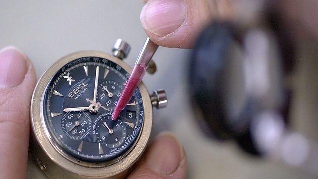La croissance du commerce extérieur repose notamment sur le secteur de l'horlogerie. [Sandro Campardo / Keystone]