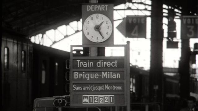 Une gare suisse [TSR 1963]
