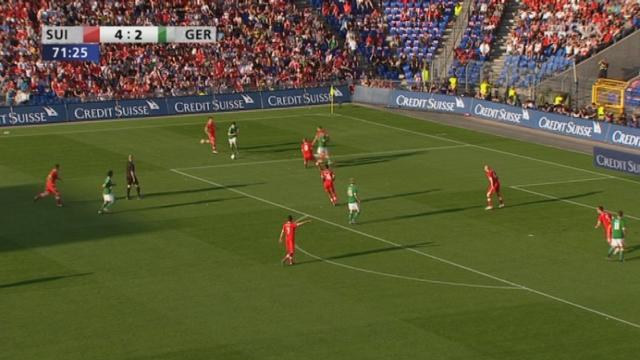 Match amical / Suisse-Allemagne (4-3) : Et une nouvelle fois, les Allemands redeviennent menaçant en réduisant le score à 4-3