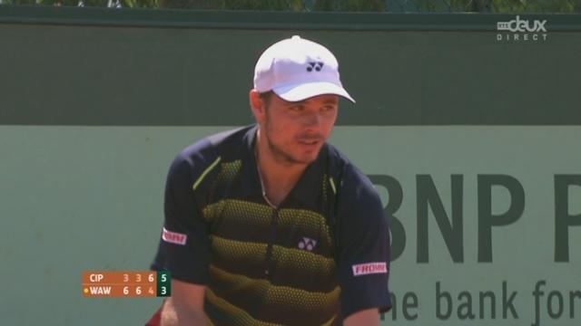 1er tour: Stan Wawrika (SUI) - Flavio Cipolla (ITA). 4e manche: après avoir remporté les 2 premières manches, Wawrinka perd les deux suivantes... On jouera un 5e set (3-6 3-6 6-3 6-4)