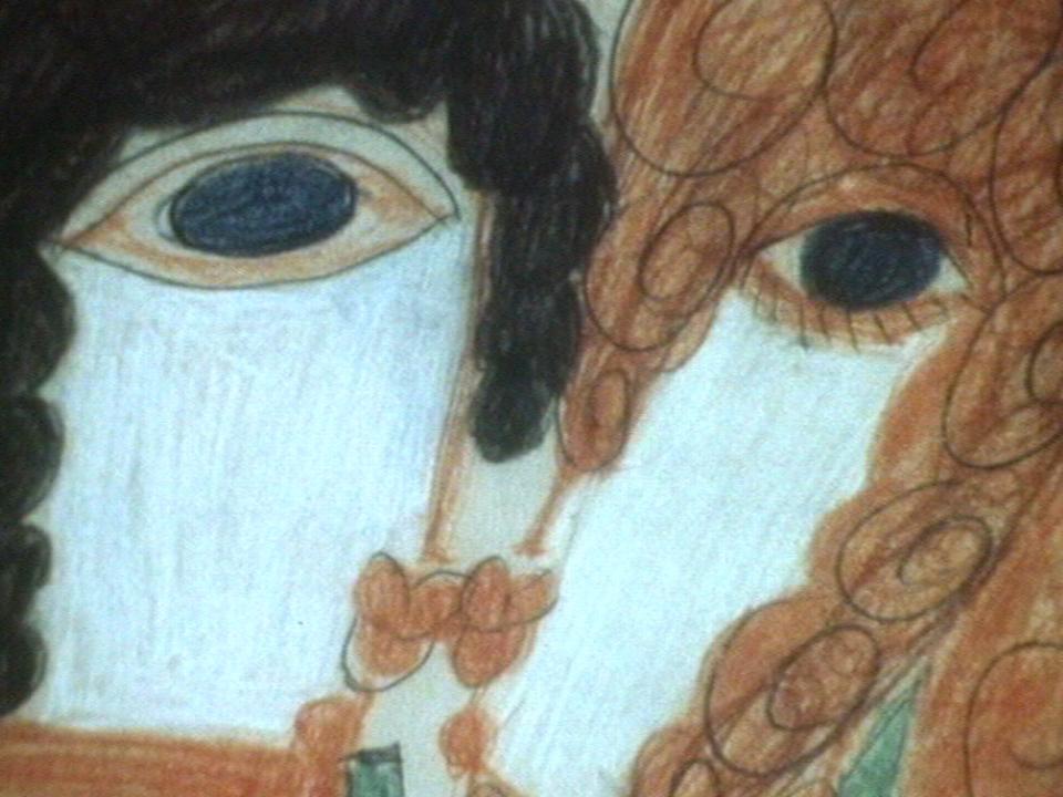 Détail d'une peinture d'Aloïse [TSR 1976]