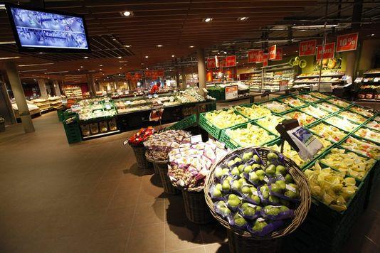 """Pour l'instant, les produits en provenance des territoires occupés ont comme déclaration d'origine """"Israël"""". [Andreas Frossard - Keystone]"""