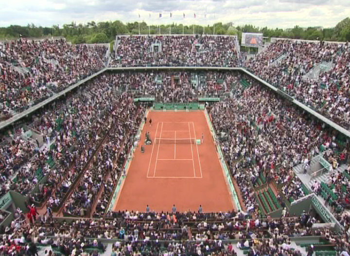 Le court central de Roland-Garros