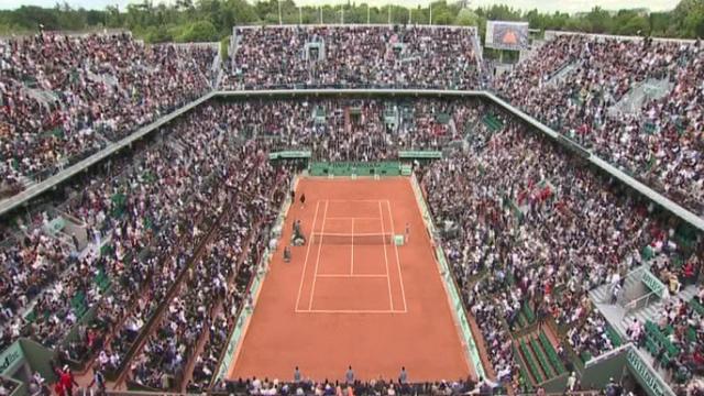 Le court central de Roland-Garros [RTS]