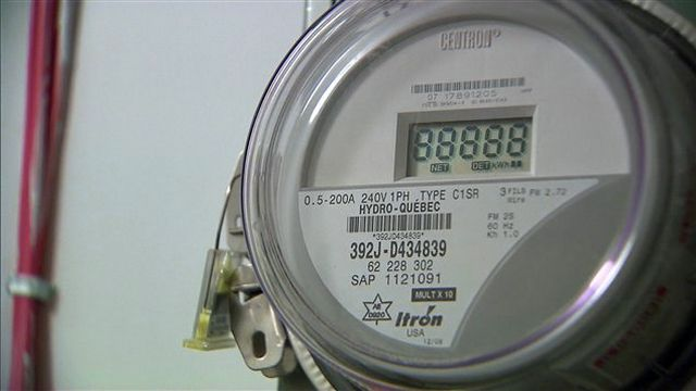 Un compteur intelligent utilisé au Canada par Hydro-Québec. [Radio Canada]