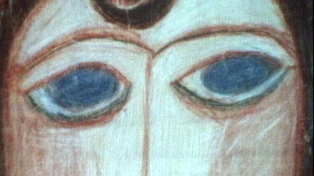 Détail d'un tableau d'Aloïse Corbaz, 1976. [RTS]