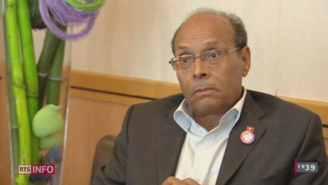 Le président tunisien Moncef Marzouki était à Genève ce jeudi pour s'exprimer sur le problème migratoire des Tunisiens qui viennent en Suisse