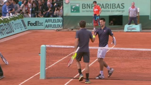 ½ Federer-Djokovic. Rien à faire pour Roger, c'est Novak qui rejoint Rafa en finale (6-4/7-5/6-3).