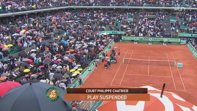 Nadal - Djokovic / Finale: Le match est interrompu à cause de la pluie (6-4, 5-3...)