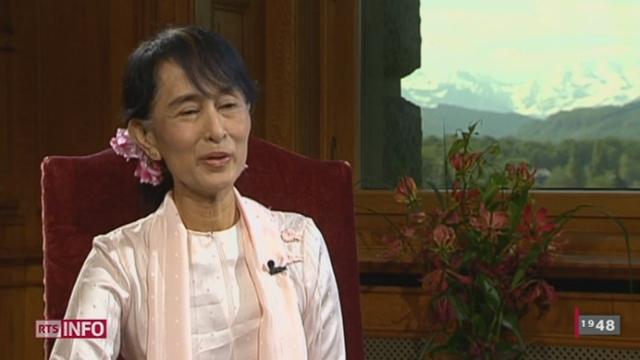 Visite d'Aung San Suu Kyi en Suisse: entretien exceptionnel avec la femme politique birmane, prix Nobel de la paix