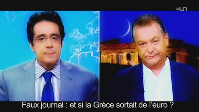 Politique fiction : et si la Grèce sortait de l'euro ? Le faux journal télévisé du jour du retour à la drachme [RTS]