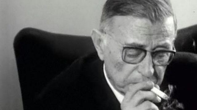 Jean-Paul Sartre en 1964. [RTS]