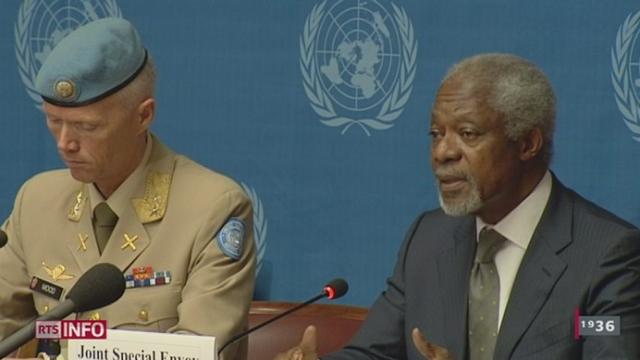 GE: Kofi Annan met en garde la communauté internationale face à la gravité de la situation syrienne