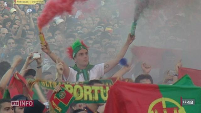 UEFA Euro 2012: près de quatorze mille personnes se sont rendus mercredi soir à la fan zone des Vernets (GE) pour regarder la première demi-finale du tournoi